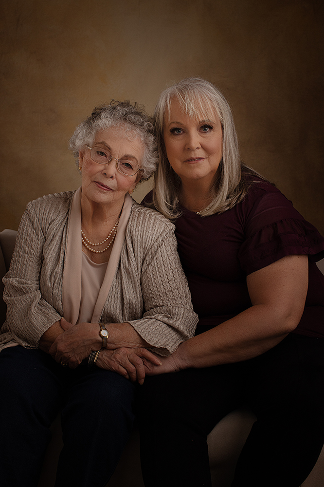 mom and daughter generation portrait